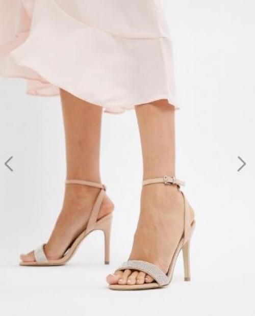New Look - Sandales à talon avec bride ornée de pierreries