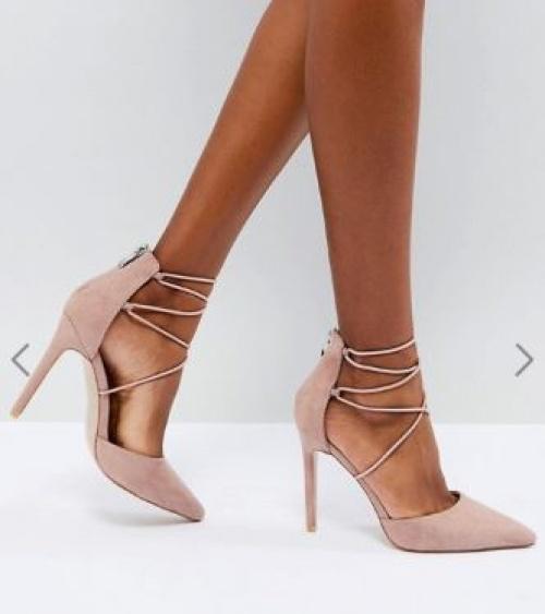 Public Desire - Volt - Chaussures à talons et liens à nouer