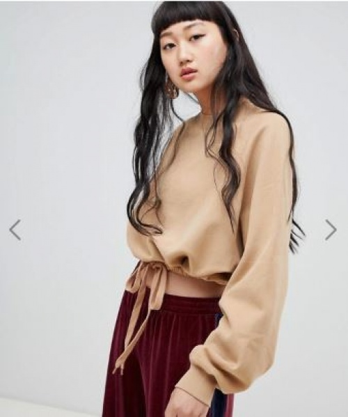 Weekday - Sweat-shirt en coton bio avec cordon de serrage