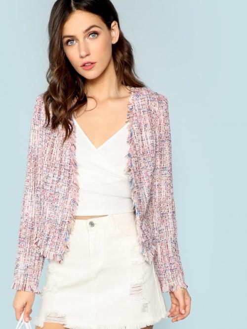 SHEIN - Manteau en tweed