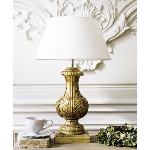 Maisons du Monde - AURORE -  Lampe classique sculptée doré vieilli