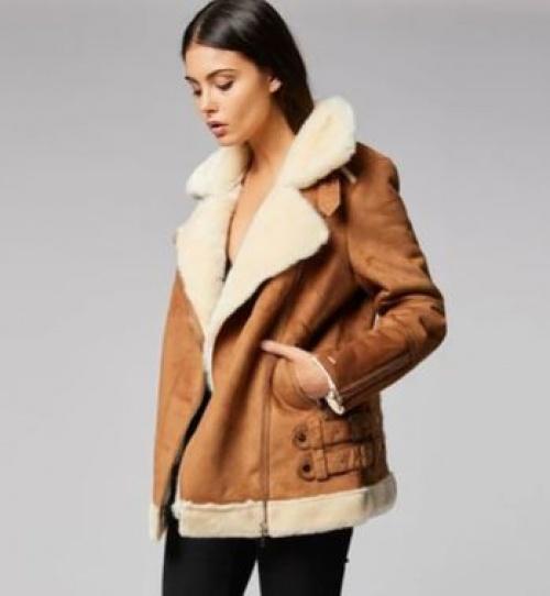 Morgan - Blouson façon peau lainée