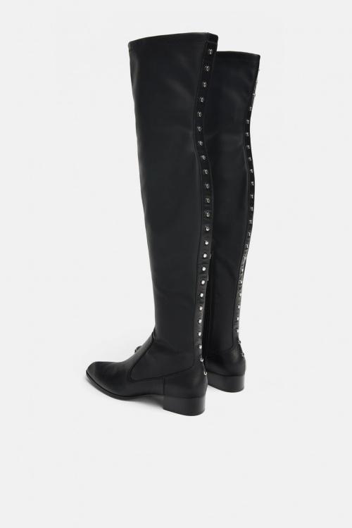 Zara - Cuissardes plates elastiques à clous