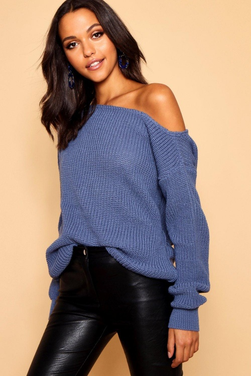 Boohoo - Slash Neck Fisherman Jumper