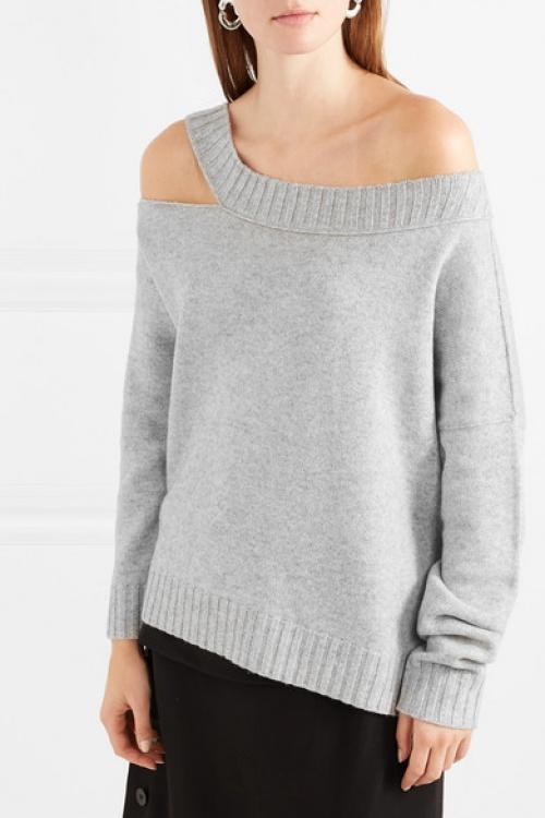 Vince - Pull asymétrique en laine et cachemire