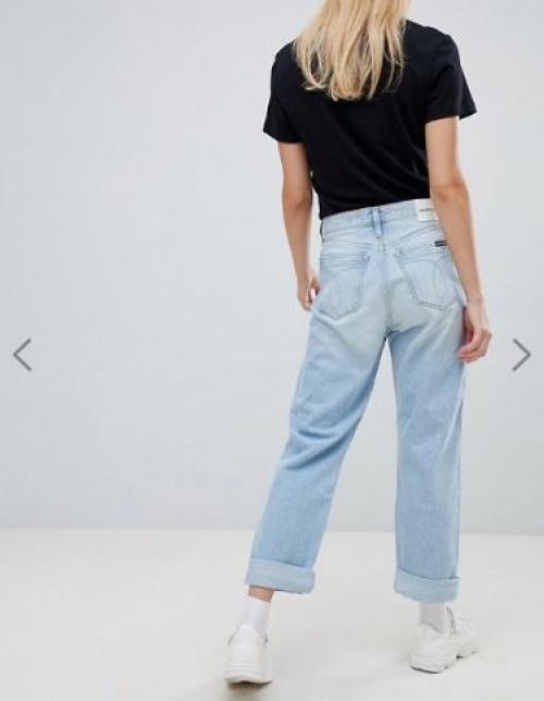 Calvin Klein Jeans - Jean droit taille haute américaine classique - Exclusivité ASOS
