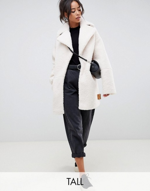 ASOS Design - Manteau imitation peau de mouton