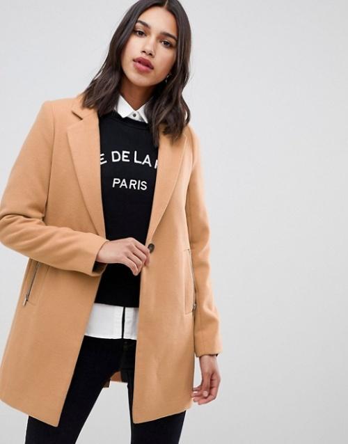 ASOS Design - Manteau boyfriend avec poche zippée