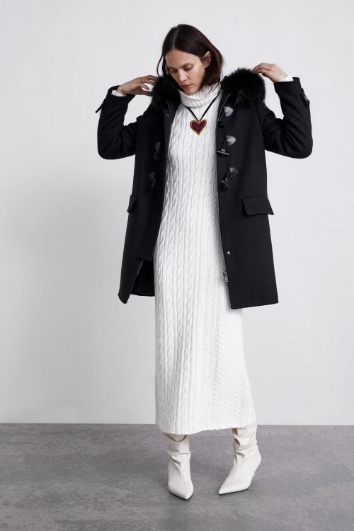 Zara - Duffle-coat à capuche