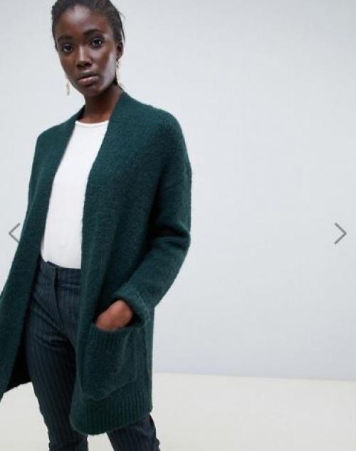 Selected Femme - Cardigan long en laine