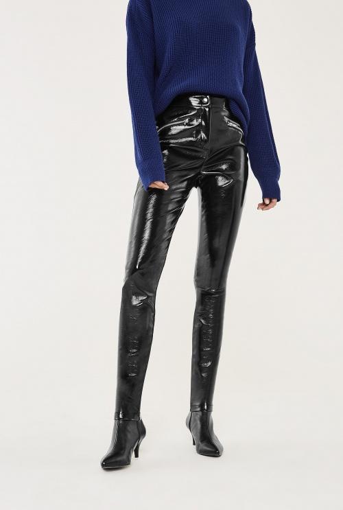 Long tall sally - pantalon slim vinyle