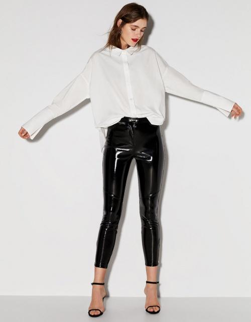 Legging en vinyle - Bershka