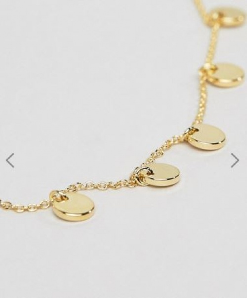 Orelia - Bracelet chaîne avec pendentif cercle en plaqué or