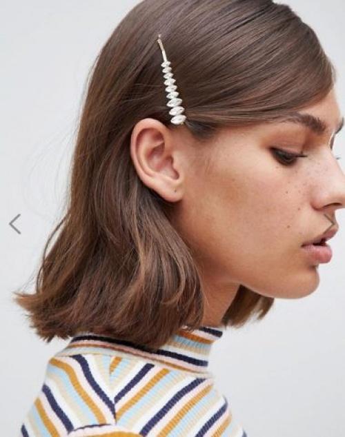 Monki - Barrette pour cheveux avec pierres transparentes