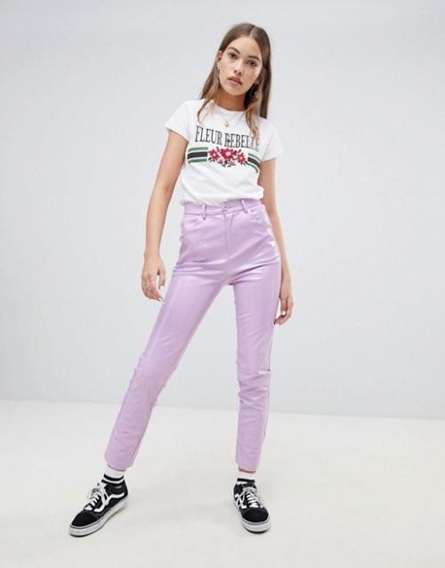 Daisy Street - Pantalon en vinyle