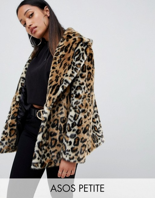 ASOS - Manteau animal en fausse fourrure
