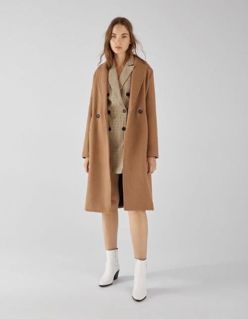 Bershka - Manteau long coupe droite