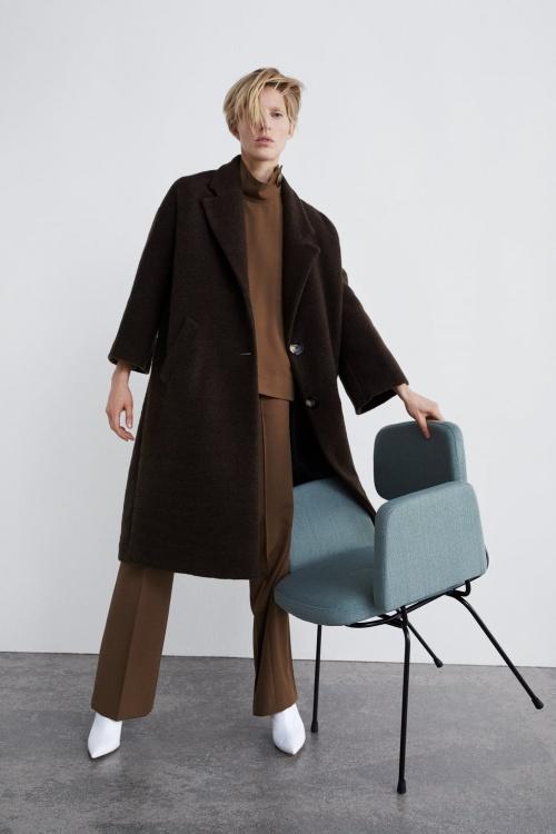 Zara - Manteau long texturé
