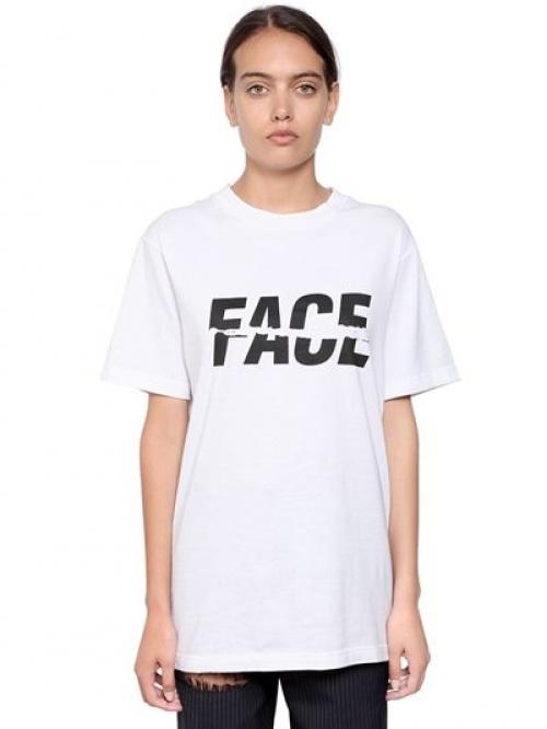 Facetasm - T-shirt blanc ) logo
