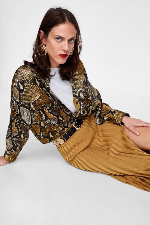 Zara - Chemise oversize avec imprimé serpent