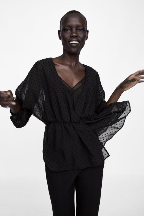 Zara - Blouse en plumetis