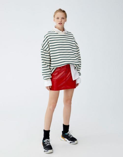 Pull & Bear - Mini jupe vernis 5 poches