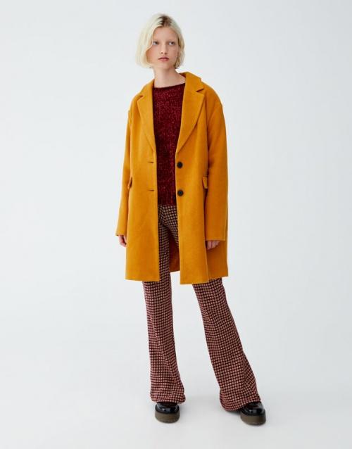 Pull & Bear - Manteau basic en drap de laine