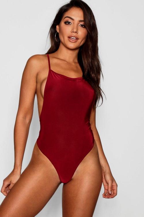 Boohoo - Square Neck Low Back Bodysuit