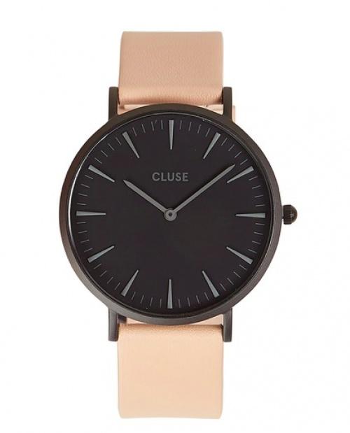 Cluse - montre en cuir rose