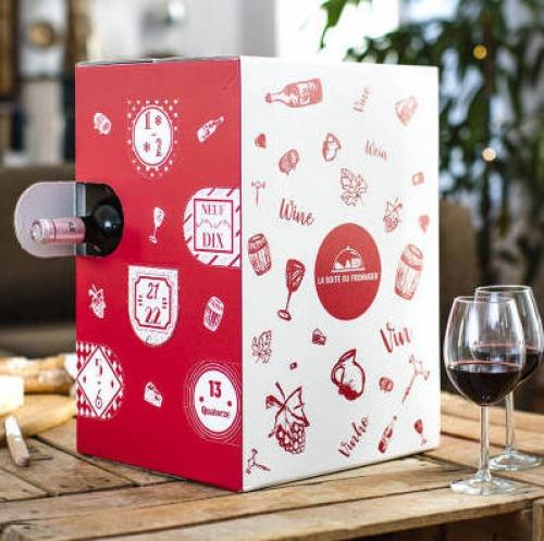 La boite du fromager - Calendrier de l'Avent (vins)