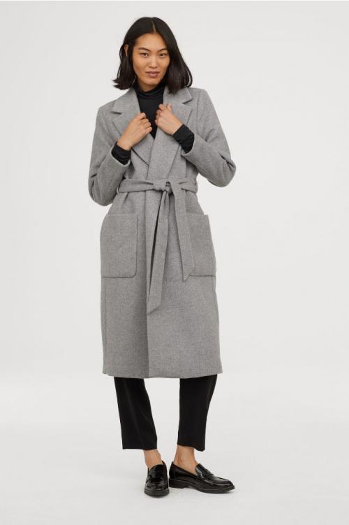 H&M - Manteau avec ceinture à nouer