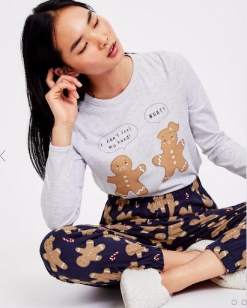 Oysho - T-shirt manche longue petit biscuit