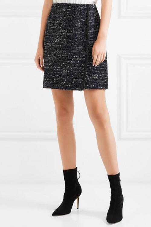 Adam Lippes - Mini-jupe effet portefeuille en tweed