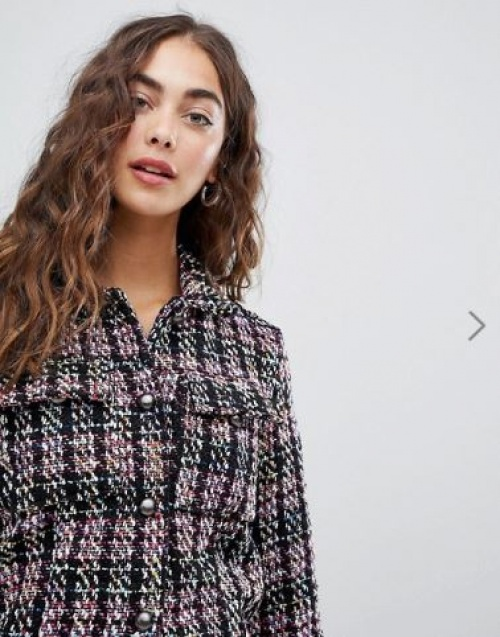 Glamorous - Veste habillée d'ensemble en tweed texturé