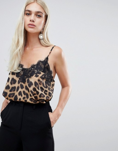 Outrageous Fortune - Caraco en dentelle avec imprimé léopard