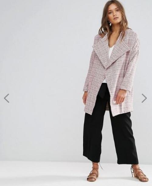 Lunik - Manteau oversize en tweed