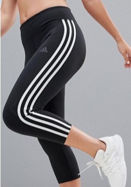 Adidas - Legging d'entraînement court à trois bandes