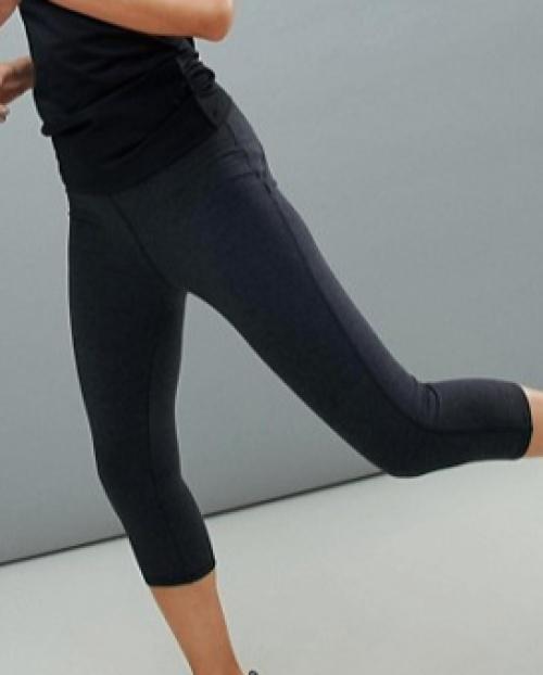 ASOS 4505 - Leggings de sport à taille haute - Gris chiné