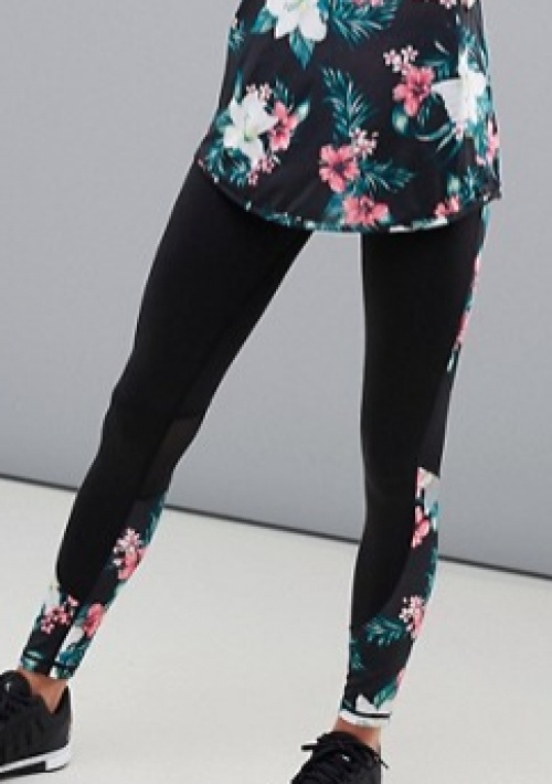 New Look - Active - Legging à imprimé palmier