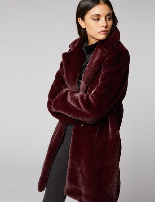 Morgan - Manteau en fausse fourrure