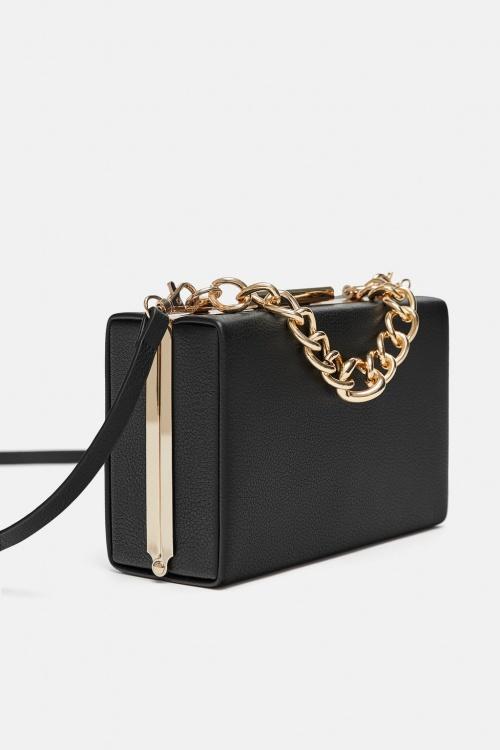 Zara - Sac rigide avec chaîne