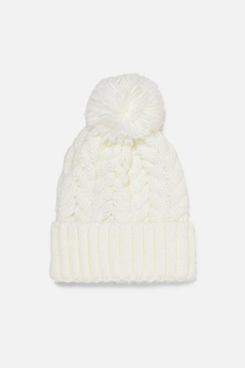 Zara - Bonnet à pompon