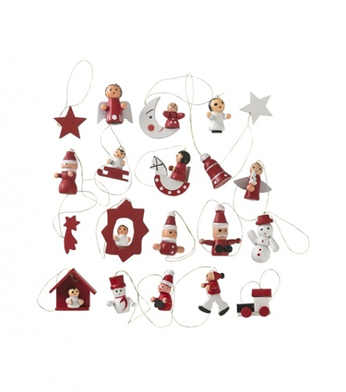 Hema - 20 décorations Noël en bois