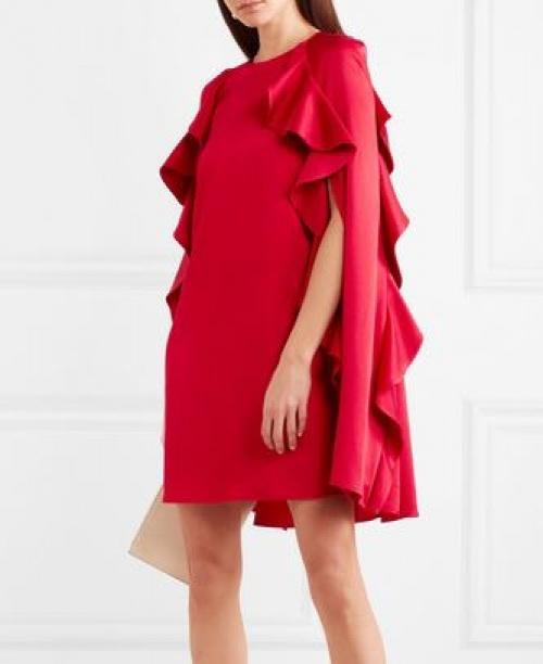 Valentino - Mini-robe en crêpe à volants