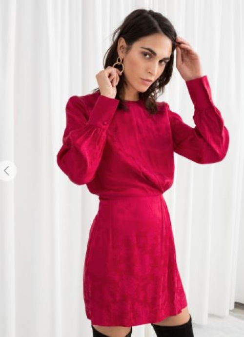 & Other Stories - Robe en satin rose