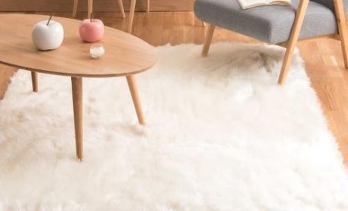 Maisons du monde - OUMKA - Tapis en fausse fourrure blanc 160 x 230 cm