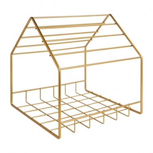Habitat - JEANNE - Porte-revues en métal doré