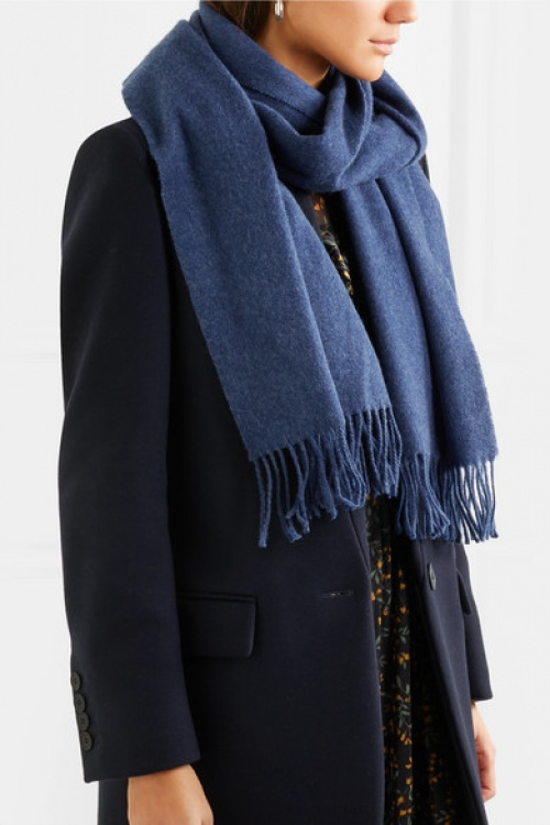 Acne Studios - Écharpe en laine à franges Canada Narrow