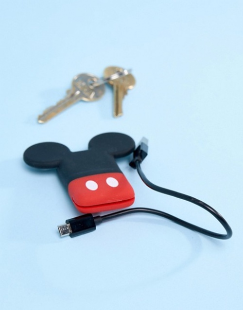 Disney - Porte clef avec câble USB