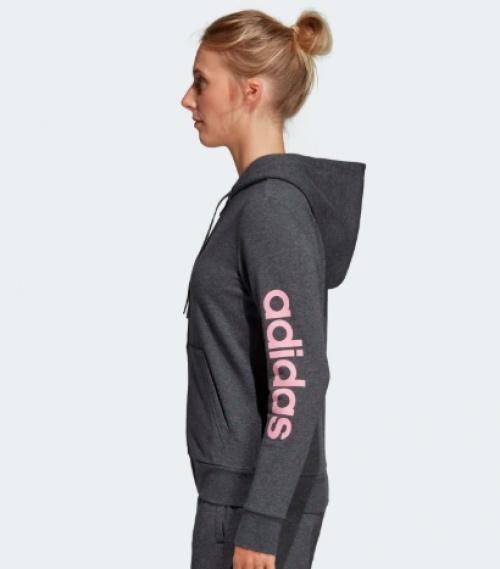 Adidas - Veste grise à large capuche